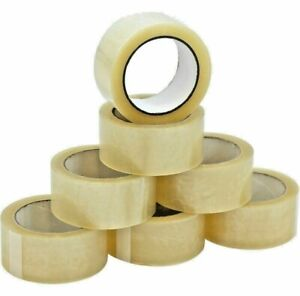 12 Rolls Heavy duty Packing Tape Strong Clear Carton Box Move Shipping Sealing