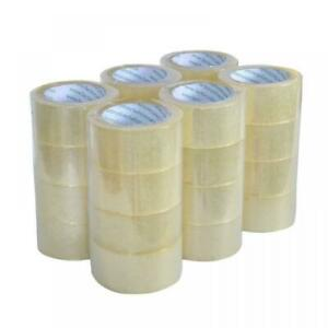 36 Rolls Heavy duty Packing Tape Strong Clear Carton Box Move Shipping Sealing