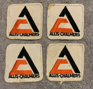 Lot Of 4 Vintage Allis Chalmers Cloth Patch Logo 2 5 Farm Tractor Implement