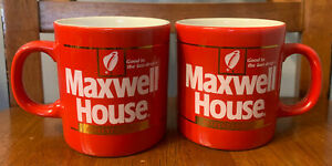 """Vintage 1980s Maxwell Coffee House Cup. """"Good to the last Drop."""" Terrific Shape"""