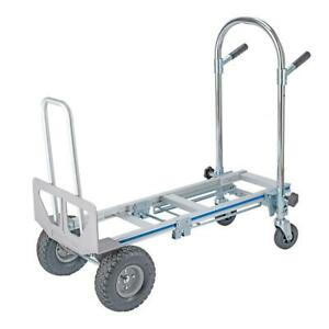 Heavy Duty 3 In 1 Aluminum Hand Truck Dolly 770lb Stair Climbing Cart Folding