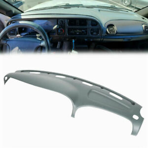 Grey Dash Cover For Dodge Ram 1500 2500 3500 98 02 Molded Dashboard Overlay Cap