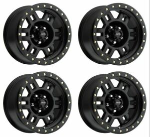 Set 4 17 Vision 398 Manx Black Truck Rims 17x8 5 8x170 0mm Ford F250 F350 8 Lug