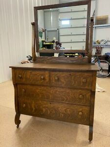 Antique Dresser With Mirror 1900 1915