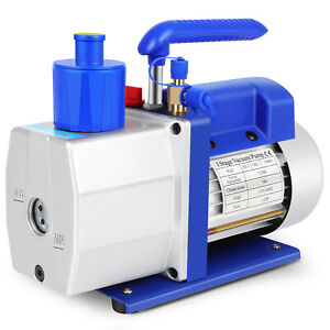 7cfm 1 Stage Vacuum Pump 1 2hp Rotary Vane Deep Hvac Ac Air Conditioning Tool
