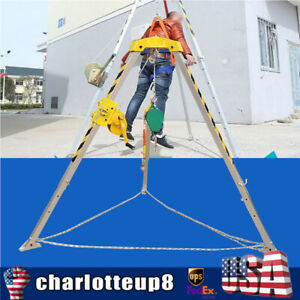 Confined Space Security Rescue Tripod Kit Winch Hook Fallproof Protector Project