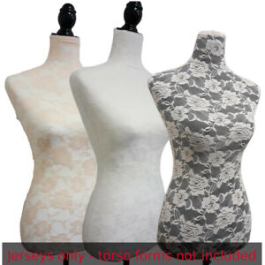 3 Colors Lace jerseys To Cover Female Mannequin Torso to Renew Dress Form sizes