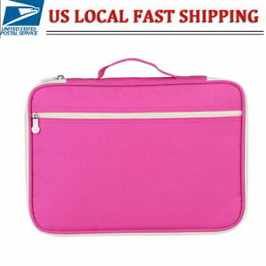 A4 Document Bag Computer Notebook Zippered Case File Folder Portfolio Organizer