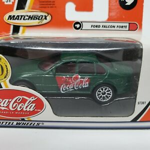 Matchbox 50 Years Coca Cola #9 1999 Ford Falcon Mattel Wheels Green