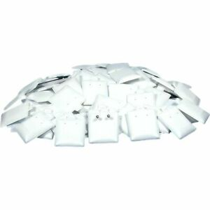 100 Earring White Puff Card Jewelry Case Display Pads 1 1 2 X 1 3 4