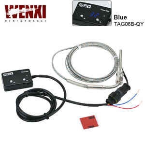 Digital Car Exhaust Gas Temp Gauge Led Pointer Egt Temperature Meter Sensor