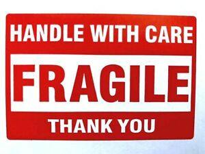 50 Fragile Handle With Care Stickers 2 X 3 Shipping Mailing Packaging Labels