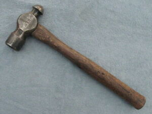 Vintage Vaughan Ball Peen Pien Body machinist Wood Handle Hammer