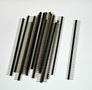 20pcs 40 Pin Single Row Male Headers Connector 2 54mm Strip Breakable Pin Header