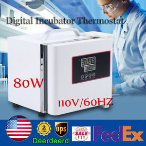 80w Digital Incubator Thermostat Microbial Pid Temperature Control Portable 1