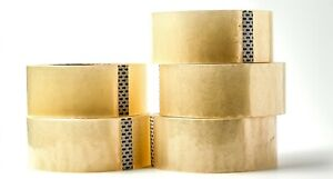 5 Rolls Heavy duty Packing Tape Strong Clear Carton Box Move Shipping Sealing