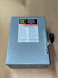 New Square D Du321 30 Amp 240v Non fusible Type 1 3ph Safety Switch Disconnect