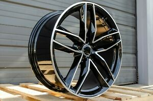 18x8 35 5x112 Black Rs Style Wheels Fits Audi Tt Q3 A4 A5 S4 S5 Sedan Premium