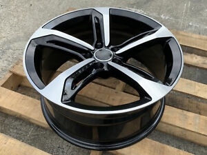 18x8 35 5x112 Rs Style Gloss Black Machined Face Set Of 4 Fits Audi