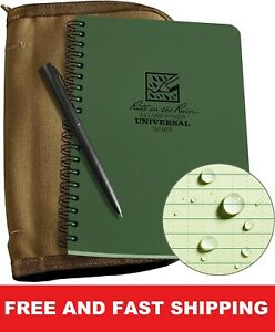 Rite In The Rain N973 Kit All Weather 5x7 Notebook pen And Carrying Case green