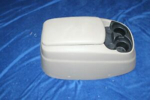 92 96 Ford F150 Bronco Center Console Arm Rest W Cupholders Storage Tan Nice