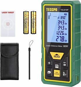 Laser Measure Advanced 196ft Teccpo Mute Laser Distance Meter With Electronic A