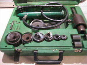 Greenlee 7306sb Knockout Set And Hydraulic Driver W 2 5 And 3 Knock Outs