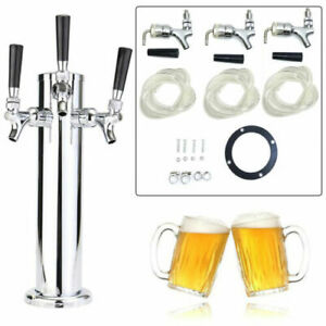 Draft Beer Tower Triple Faucet Beer Dispenser For Home Bar