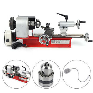 Mini Desktop Lathe Machine Diy Tool Wood Metal Al Manufacturing Meltalworking