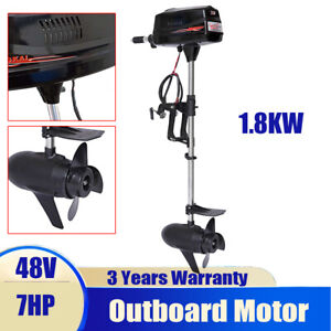 Hangkai 7hp Brushless Electric Boat Outboard Motor Boat Engine Tiller Control Ce