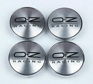 4pcs Oz Racing Silver Emblem Car Wheel Center Hub Caps Cover Rim 60mm 2 36