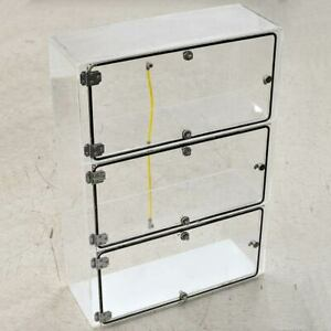 Cci Clear Acrylic Dry Box Desiccator 24 X 9 X 34 3 chambers With Gas Fittings
