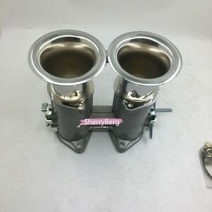 48dcoe Twin 48mm Throttle Bodies Body Air Horns Stacks For Weber Dellorto Carb