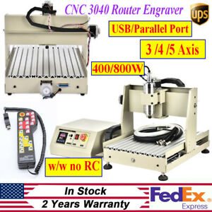 Usb parallel 3 4axis Cnc 3040 Router Engraver Milling Engraving Machine 400 800w