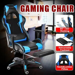 Ergonomic Office Chair Pc Gaming Chair Desk Chair With Modern Footrest Armchair