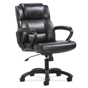 Black Office Chair Big Tall Manager Softhread Leather Desk Furniture Heavy Duty