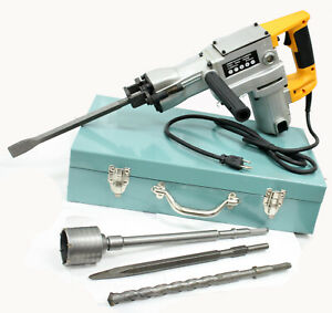 1800w Electric Rotary Hammer Drill Demolition Mode 500bmp W Core Bit Hole Saw