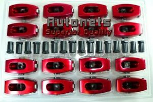 Small Block Ford Aluminum Roller Rocker Arms 1 6 7 16 289 302 351w Red Hot Rod