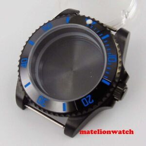 40mm Pvd Coated Sapphire Glass Watch Case Parts Fit Nh35 Nh36 Automatic Movement