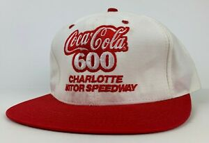 Vintage Coca Cola 600 Cap Hat Charlotte Motor Speedway Embroidered Made In USA