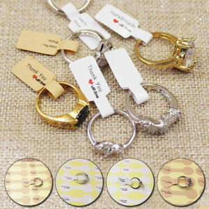 100pcs Hangtag Stickers Jewelry Display Ring Labels Price Tags Self Adhesive
