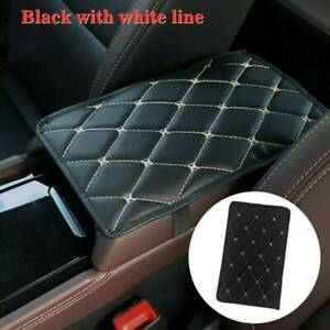 Car Leather Armrest Pad Cover Auto Center Console Box Cushion Mat Accessories