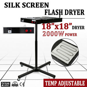 18 x18 Flash Dryer Silkscreen Printing Heating Heavy Duty Adjustable Prints Kit