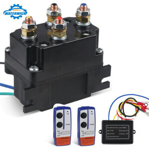 12v 250a Winch Solenoid Relay Contactor 2pcs Wireless Winch Remote Control Kit