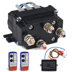 Fit For Kfi Warn Atv Wireless Winch Contactor Solenoid Relay Remote Control Kit
