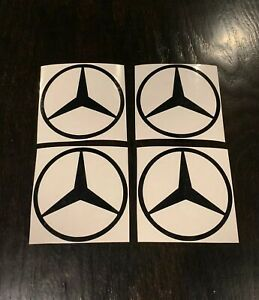4x Mercedes Benz Decals Many Color Options Mercedes Stickers 3 5 Round