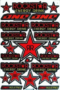 Rockstar Energy Racing Stickers Motocross Grafitti Vinyl Decals Bike Skate Atv