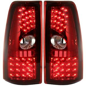 Pair Led Tail Light For 99 06 Chevrolet Silverado 1500 Lh Rh Red Clear Lens
