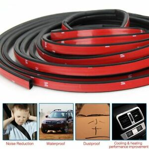 33ft B Shape Rubber Weather Seal Hollow Universal Car Door Strip Weatherstrip Us