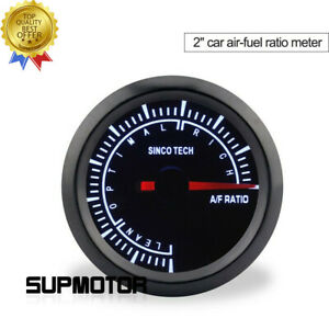 52mm Car Air Fuel Ratio Gauge Meter Lean optimal rich Range Do638 For 12v Car